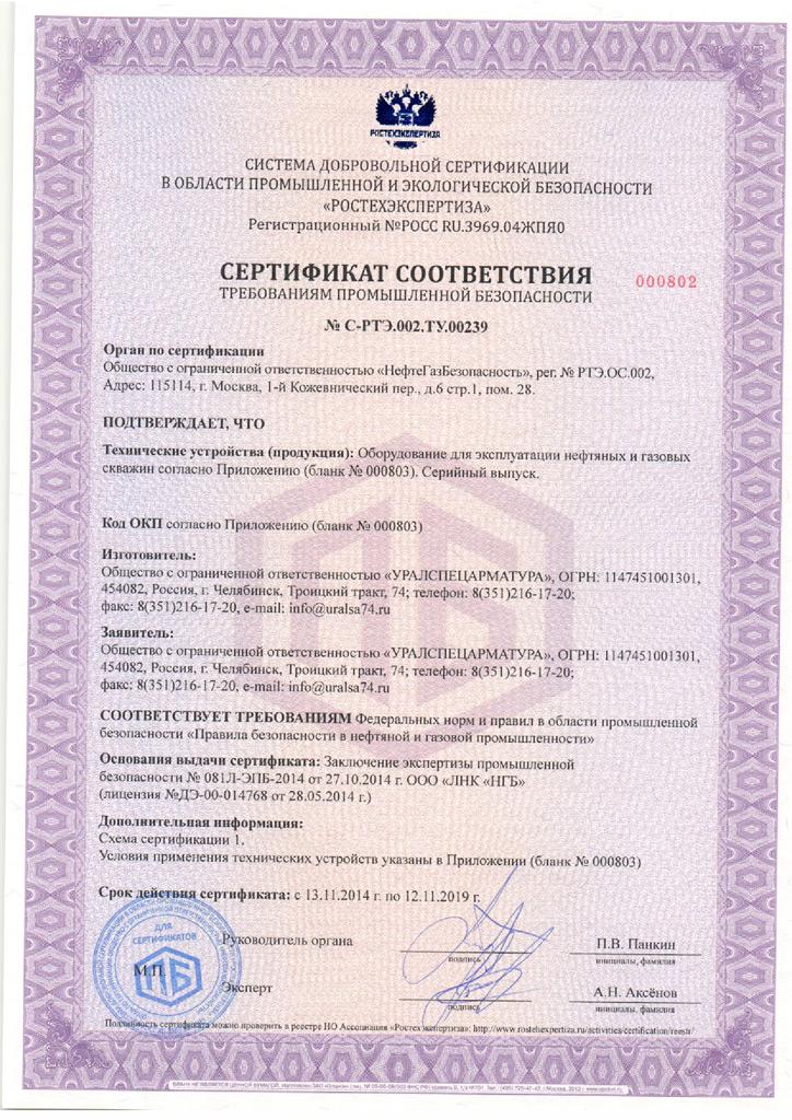 Сертификация соответствия требованиям промышленной безопасности сертификация системы качеств